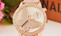 Игра Спечели стилен дамски часовник, с камъни под формата на пеперуда