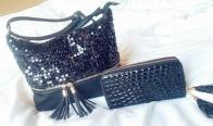 Игра Спечели този сет от ръчно декорирана бутикова дамска чанта и стилно портмоне
