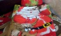 Игра Спечели комплект Дядо Коледа - долен чаршаф 100/150 и калъфка 32/42 см