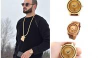 Игра Спечели ръчно изработен дървен часовник
