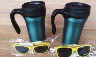 Игра Спечелете Метална термо чаша+3бр. рекламни слънчеви очила от Hansa Coffee Bulgaria