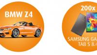 Игра Спечелете 200 таблета Samsung Galaxy Tab S 8,4 и лек автомобил BMW Z4