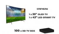 """Игра Спечелете 55"""" OLED TV, 43"""" LED TV и 100 TV box DL510"""