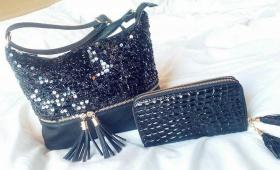 Спечели този сет от ръчно декорирана бутикова дамска чанта и стилно портмоне  Zabavni igri