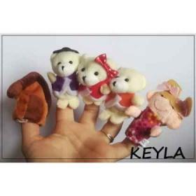 "Спечелете комплект кукли за куклен театър за пръсти ""Златокоска и трите мечета"""