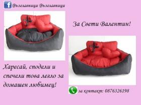 Спечели легло за домашен любимец в червено и черно