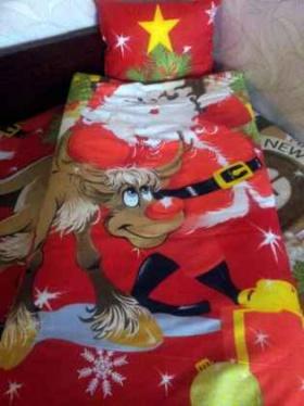 Спечели комплект Дядо Коледа - долен чаршаф 100/150 и калъфка 32/42 см