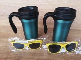 Спечелете Метална термо чаша+3бр. рекламни слънчеви очила от Hansa Coffee Bulgaria
